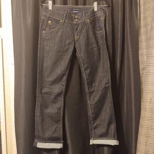 Hudson Cropped Dark Wash Jeans Size 25